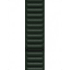 Apple 41mm Sequoia Green Leather Link - S/M ML7P3ZM/A