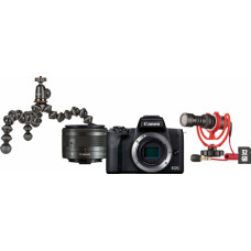 Canon EOS M50 Mark II Kit EF-M 15-45mm IS STM Black Vlogger Kit