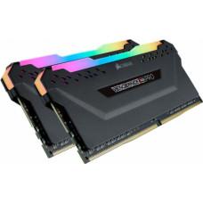 Corsair VENGEANCE RGB PRO 16GB (2 x 8GB) DDR4 DRAM 3200MHz C16 AMD Ryzen Memory Kit - Black (CMW16GX4M2Z3200C16)