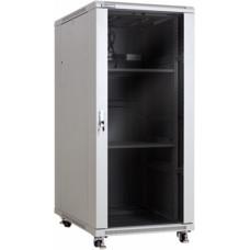 Linkbasic Rack Cabinet 19'' 27U 600x1000mm Gray with Smoky-Gray Front Glass Door (NCB27-610-BAB-C-NA)
