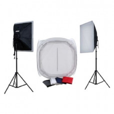 Falcon Eyes Product Photo Set With 75x75x75 Photo Tent and Lighting 1600W