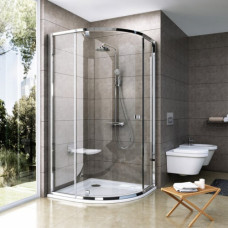 Ravak Pivot PSKK3-90 Shower Corner Satin+Glass Transparent (37677U00Z1)
