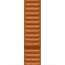 Apple 45mm Golden Brown Leather Link - S/M ML7U3ZM/A