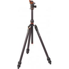 3 Legged Thing Eclipse WINSTON Carbon Fibre Tripod System & AirHed 360 Grey (WINSTONKITGREY)