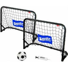 Metāla Futbola vārti komplekts ar tīkliem, bumbu, pumpi 60x45x24 Best Sporting 110895