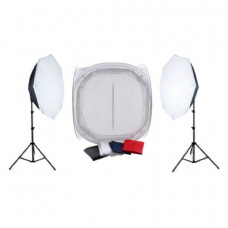 Falcon Eyes Product Photo Set With 120x120x120 Photo Tent and Lighting 2200W