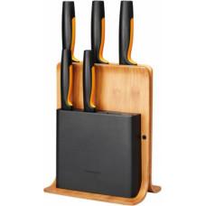 Fiskars Functional Form Bambusa Nažu Bloks 5 nažiem 1057552 (6424002012979)