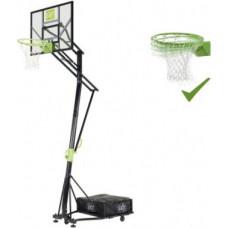 Exit Galaxy pārvietojamais basketbola grozs uz riteņiem ar dunk grozu - zaļš / melns