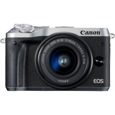 Canon EOS M6 Double Kit 15-45mm IS STM + 55-200mm IS STM Silver