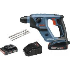 Bosch GBH 18 V-LI Compact (2.0 Ah) incl. 2 Batteries and 3 pcs. Drill Set (3165140871372)